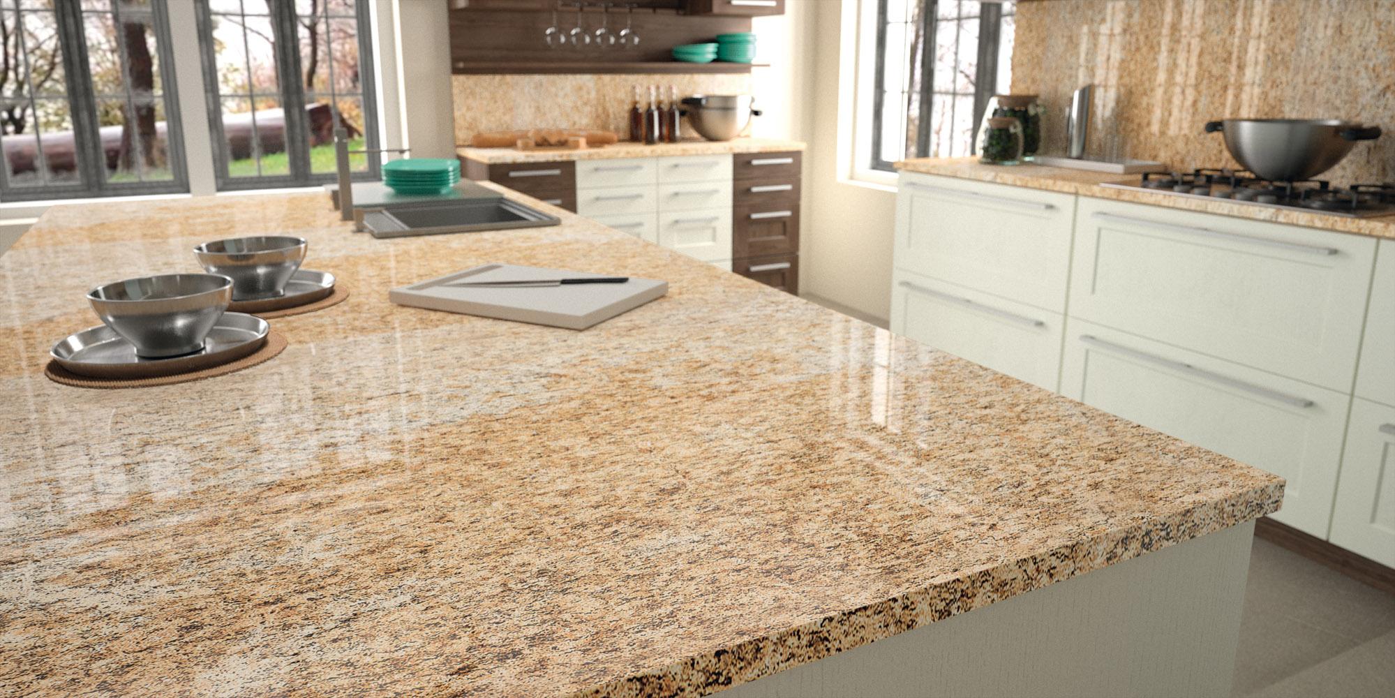 Sensa Granite Orinoco White Kitchen Cabinets